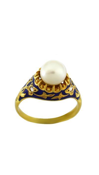 Δαχτυλίδι χρυσό 18 καράτια με μαργαριτάρι και διαμάντια c1230e9e04d