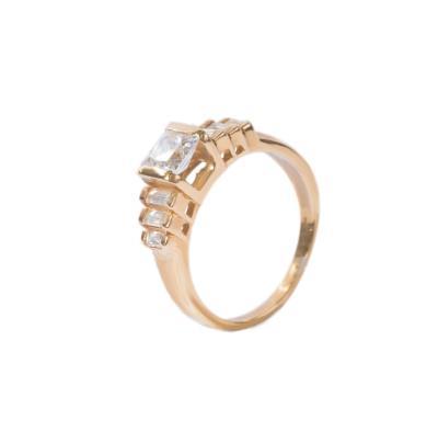 Γυναικείο δαχτυλίδι σε κίτρινο χρυσό Κ14 με ζιργκόν και συνθετική πέτρα 68546d76694