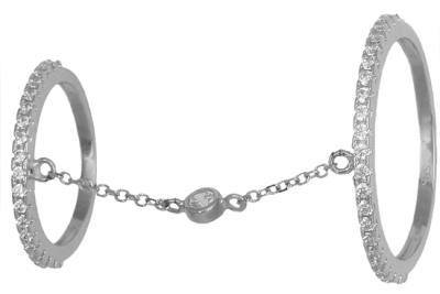 Λευκόχρυσο δαχτυλίδι διπλό 14K 0018984 018984 Χρυσός 14 Καράτια c920b3f8a20