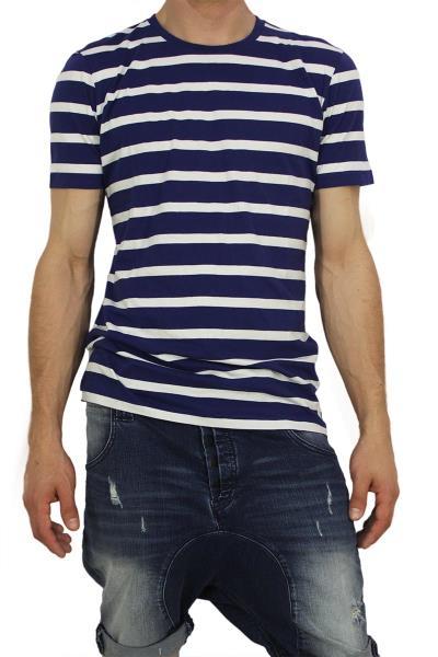 Globe ανδρικό ριγέ t-shirt Moonshine μπλε-λευκό - 01211007 ab2a1ad5811