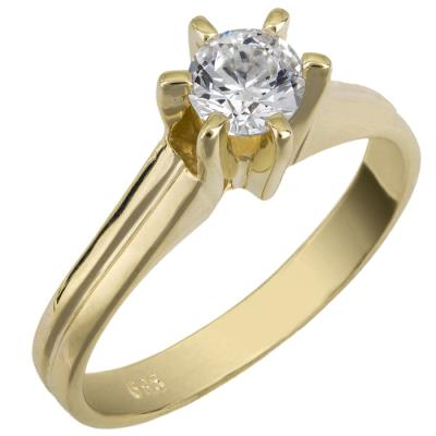Μονόπετρο swarovski χρυσό Κ14 025858 025858 Χρυσός 14 Καράτια e961211e8fa