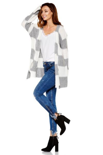 b9cdd06d737f Ζακέτα πλεκτή με ανοίγματα - Γκρι. Άμεσα διαθέσιμο. fashioneshop.gr ...