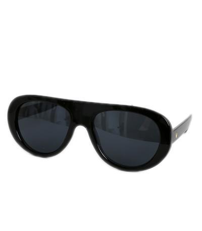 ca1ee2ce2d Κοκκάλινα οβάλ γυαλιά ηλίου (Μαύρο)