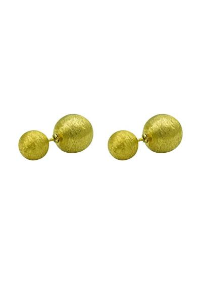 Χρυσά Διπλά Σκουλαρίκια Μπάλες Κ14 (NKJ) - 720 7a56372205d