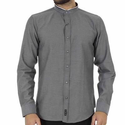 925b3efb2e5e Ανδρικό Μάο Μακρυμάνικο Πουκάμισο Slim Fit CND Shirts 3550-3 σκούρο Γκρι