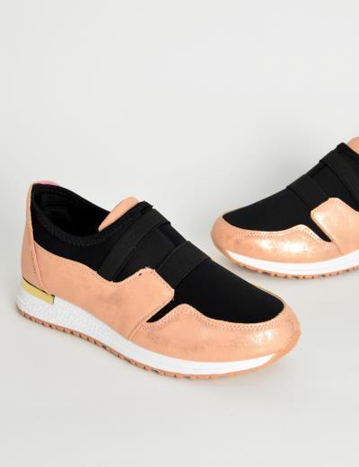 8256b492095 Γυναικεία Sneakers κάλτσα ροζ με λάστιχο KB060C