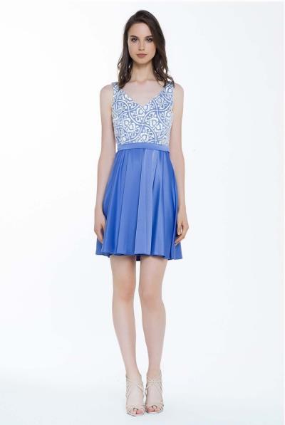 Φόρεμα βε δαντέλα μπούστο φούστα κλος - 17213 95e7367668e