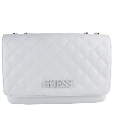 b048d4280a Guess Γυναικεία Τσάντα Ώμου ELLIANA QUILTED-LOOK CROSSBODY HWVG7302210 white