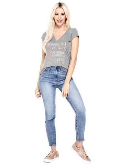 41e7d8792752 γυναικεία guess λογοτυπο μπλουζα - Totos.gr