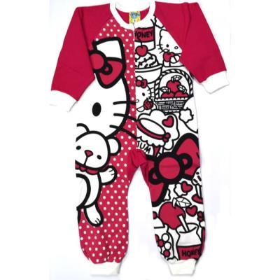 Πυτζάμα ολόσωμη παιδική βαμβακερή Hello Kitty 1398523fdc0