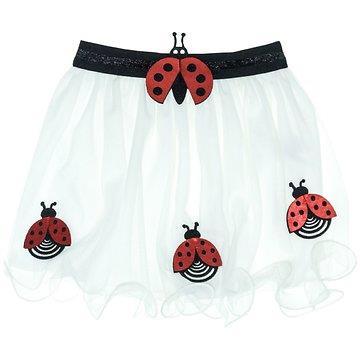 94711f21410 Mini Citlenbik παιδική φούστα τουτου «White Ladybug»