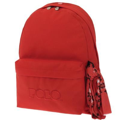 e9affada80 Τσάντα σακίδιο με μαντήλι κοραλί 9-01-135-14 Polo