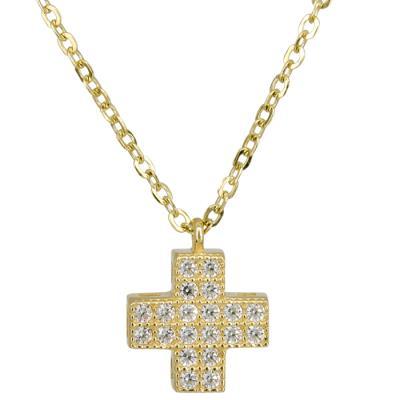 Χρυσό χειροποίητο κολιέ με σταυρουδάκι 14 Κ 023868 023868 Χρυσός 14 Καράτια e252d95018a