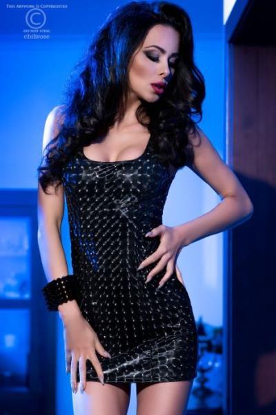 7117c9bc6da7 Chilirose Black Mini Dress with 3D effect