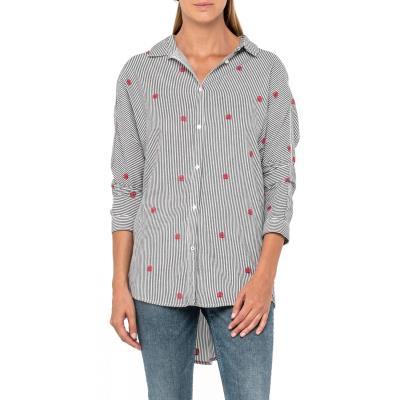 92fd7cca591a Lee Longline Women s Shirt L46DPQEM - STRIPED BLACK