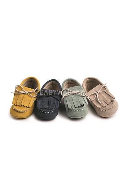 Παπούτσια Βάπτισης Babywalker ΔΕΤΟ ΔΕΡΜΑΤΙΝΟ ΜΟΚΑΣΙΝΙ ΜΕ ΚΡΟΣΙΑ MI.1047 7ae201dd8f9