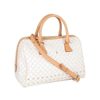 0c741d7971 Τσάντα Χειρός-Tote Με Τρουκς La Tour Eiffel Logo-Δέρμα 6396 Λευκή-Μόκα