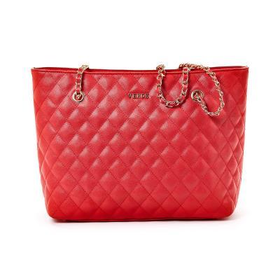 0477869c8a Τσάντα Ώμου Καπιτονέ Με Αλυσίδα Verde 16-4983 Κόκκινη
