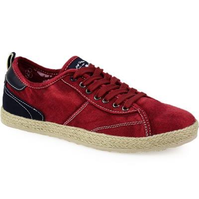 Ανδρικά sneakers με εσπαντρίγια στη σόλα Κόκκινο 333fd7379a6