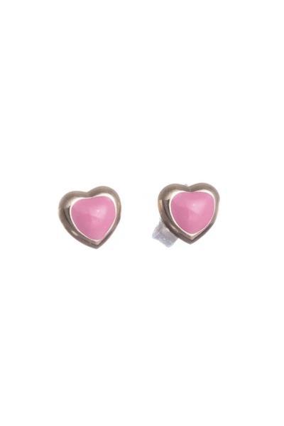 Χρυσά Παιδικά Σκουλαρίκια Κ14 Καρδιά με Ροζ Σμάλτο (NKJ) - 1204 ed0c8bad7ca