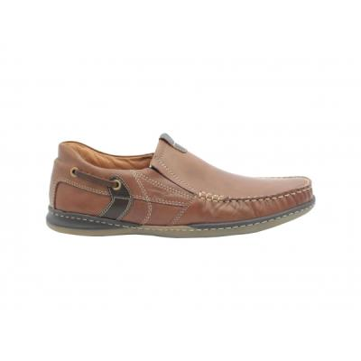 de16681275  b Μοκασίνια δερμάτινα  b  ανατομικά ανδρικά παπούτσια Boxer 21138 ταμπα.  21138-