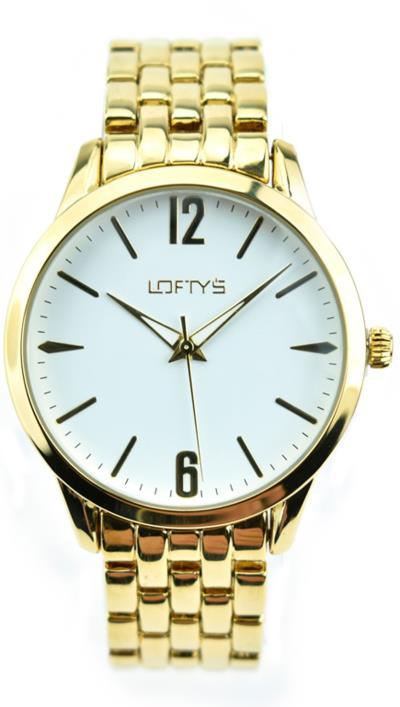 c9c733c025 Ρολόι Loftys Classic με χρυσό μπρασελέ και λευκό καντράν Y2007-2