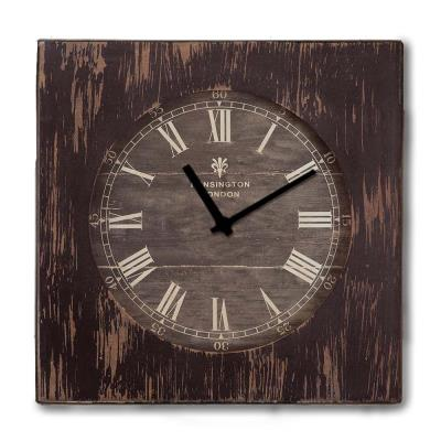 Rustic ξύλινο Ρολόι τοίχου Roman Numbers Καφέ σκούρο 48cm-60cm - L - 48 x  48 c 7c5220cacb6