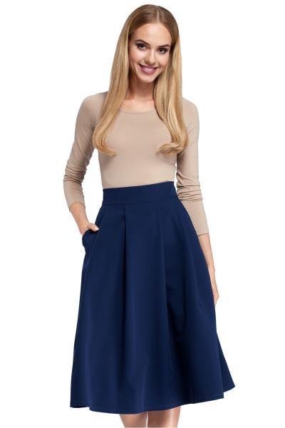 604b7e23362 Ψηλόμεση κλος μίντι φούστα - Σκούρο Μπλε
