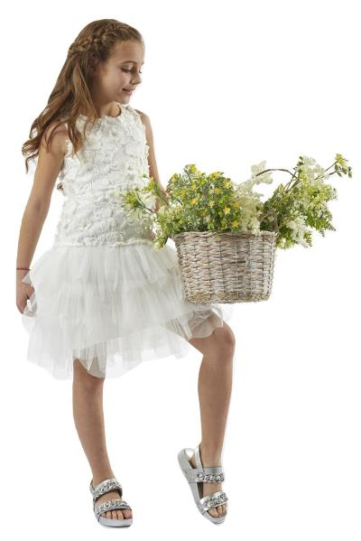 4aae84c3830 Ebita 198006 Φόρεμα με τούλι Λευκό Ebita