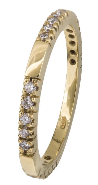 Χρυσό δαχτυλίδι Κ18 με μπριγιάν 021395 021395 Χρυσός 18 Καράτια 464b3a19370