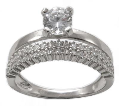 Γυναικείο Δαχτυλίδι DX102 από Ασήμι Mονόπετρο Ολόβερο 6f1462f002d