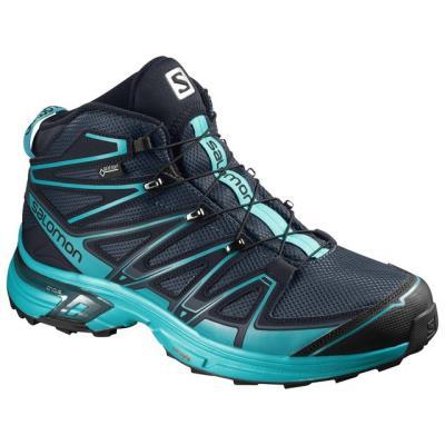 Αδιάβροχα ορειβατικά μποτάκια γυναικεία Salomon X-Chase Mid GTX Gore-Tex W  Slate f2d977f610a