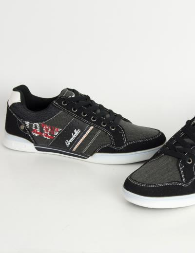 572f6c9096e Ανδρικά Casual παπούτσια μαύρα χαμηλά κορδόνια K70422