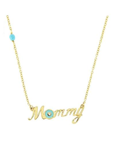 Κολιέ Χρυσό Mommy Κ14 με Ματάκι από Σμάλτο (NKJ) - 1052 2e4a0373188