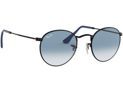d75515e390 Γυαλιά ηλίου Ray-Ban Round Metal RB 3447 006 3F Ματ Μαύρο Ανοιχτό Μπλε  Ντεγκραντ