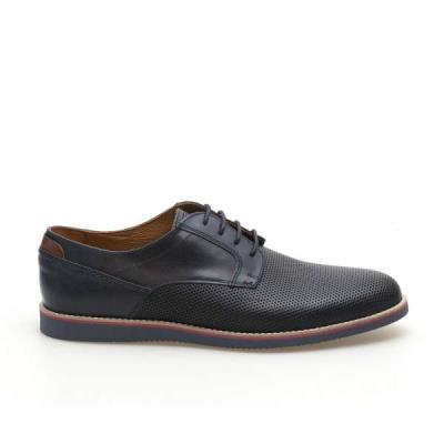Kricket 104 Μπλε Ανδρικά Δερμάτινα Casual Παπούτσια Kricket 104 Blue 36c6abd3518