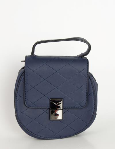2ea4bde805 Γυναικείο μπλε μίνι στρογγυλό τσαντάκι καπιτονέ H9019