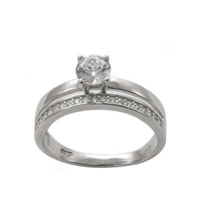 Γυναικείο Δαχτυλίδι DX104 από Ασήμι Mονόπετρο Ολόβερο 0bf3957d2cc