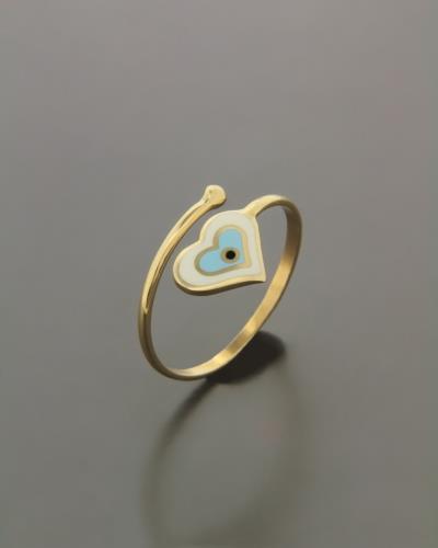 Δαχτυλίδι χρυσό με Σμάλτο b921a7de5d2