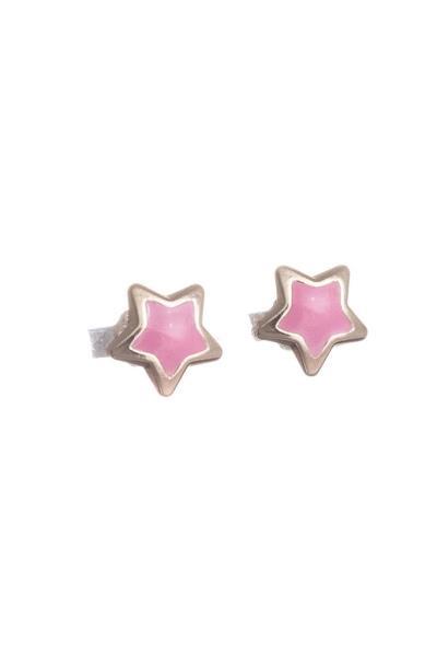 Χρυσό Σκουλαρίκι Παιδικό Κ14 Αστέρι με Ροζ Σμάλτο (NKJ) - 1208 b99a6837c22