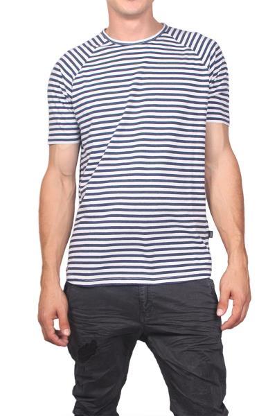 5154d8ceeddb Wesc ανδρικό ριγέ t-shirt Baki λευκό-μπλε - 163we-00067
