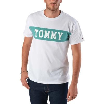 Tommy Hilfiger Panel Logo Men s Tee DM0DM04534-100 - CLASSIC WHITE 23d3da4e692