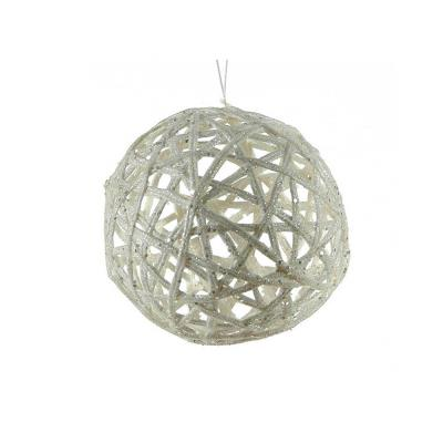 b41055748485 Λευκή μπάλα από πλέξη ιτιάς 10 εκ.