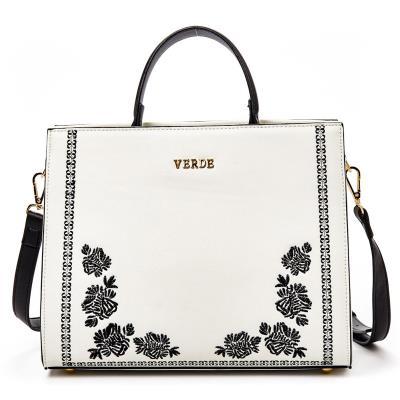 Γυναικεία τσάντα χεριού-ώμου Verde 16-0005002 σε λευκό χρώμα έως 6 άτοκες  δόσεις 3d7e8757171