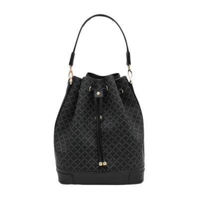 90cb6e08ac Τσάντα Ώμου Πουγκί La Tour Eiffel Logo-Δέρμα 10075L Μαύρη