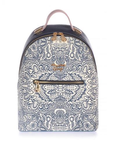 0d6e61f854 Γυναικεία τσάντα σακίδιο Veta Elizabeth George 795-6 σε ασπρό μπλε καρό  χρώμα έω