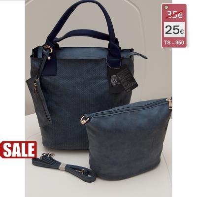 acd4c9c4cf Γυναικεία τσάντα ώμου σετ 3 τεμαχίων χρώμα σκούρο μπλέ