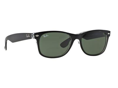 Γυαλιά ηλίου Ray-Ban New Wayfarer RB 2132 6052 Μαύρο Γκρι Πράσινο (6052)  Κρύσταλ 719f060bb5c