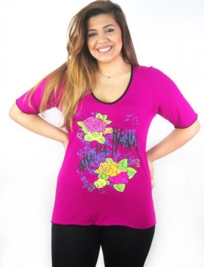 e70c1e2a4dc γυναικεία φουξια fouxia γραμμη μπλουζεσ - Totos.gr