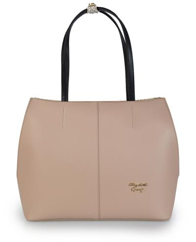 Γυναικεία τσάντα χεριού-ώμου Veta 776-34 Elizabeth George series σε μπεζ  χρώμα έ 5efb9a567d7